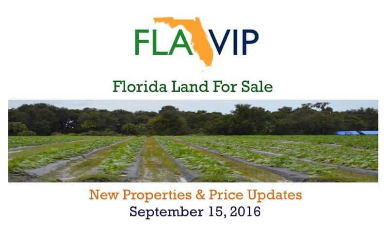 Florida Land For Sale - September 15 2016