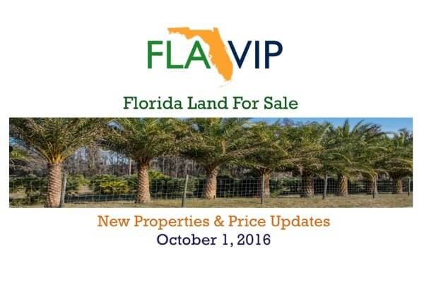 10.01.16 Florida Land For Sale Summary