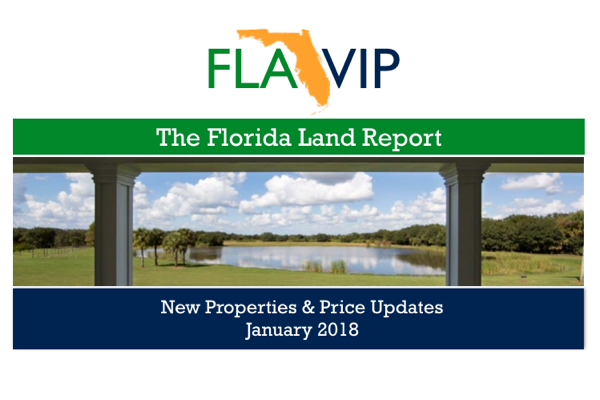 the florida land report for january 2018