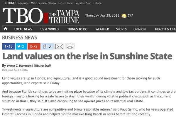 Florida Land Values 2016