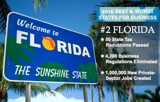 Florida Best States for Business 2016