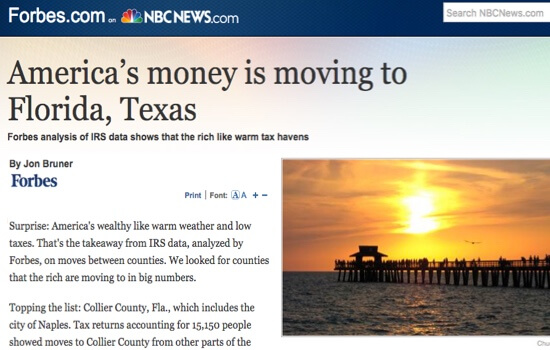 America's Money Is Moving to Florida