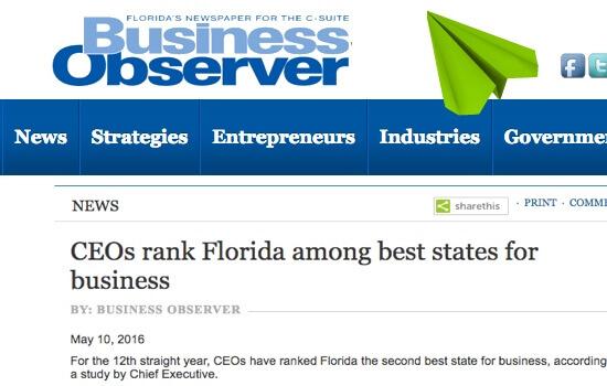Florida Best State for Business 2016