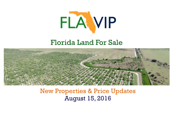 Florida Land For Sale Summary - 08.15.16