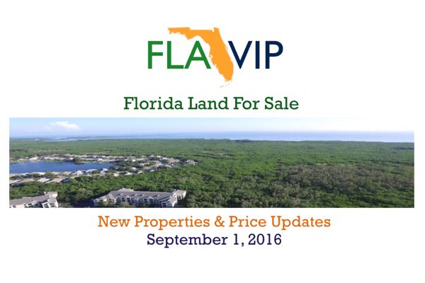 Florida Land For Sale September 2016