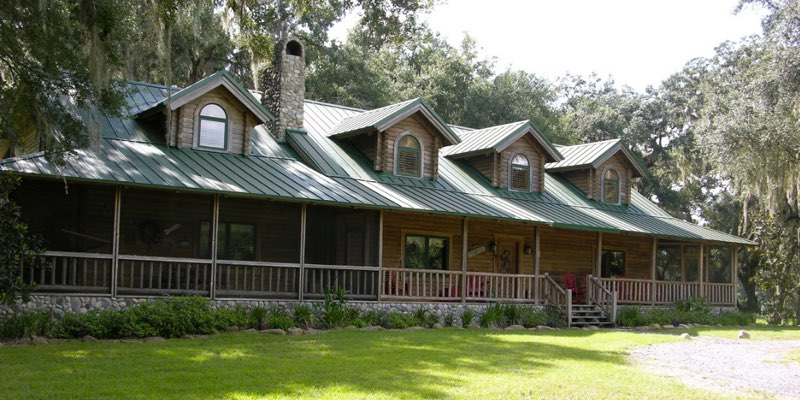 Luxury log home for sale Florida