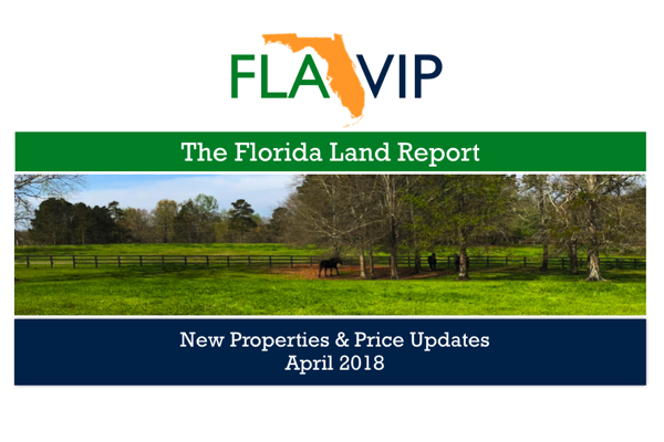 The Florida Land For Sale Report April 2018