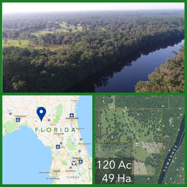 120 Acre Florida Riverfront Land For Sale