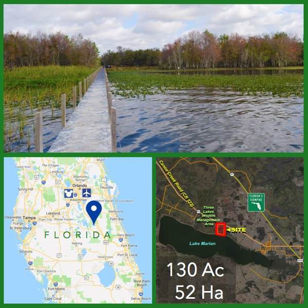 130 Acre Florida Lakefront Land For Sale