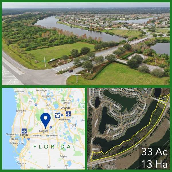 33 Acre Florida Development Land For Sale