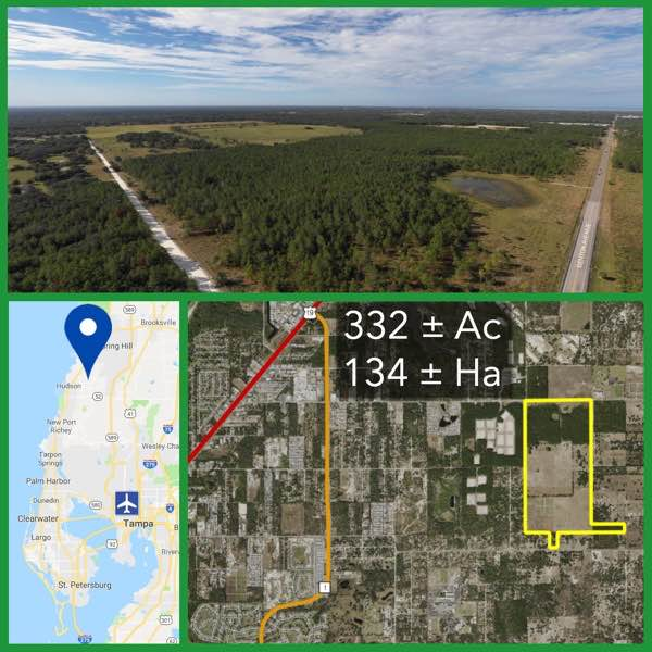 332 Acre Florida Development Land For Sale
