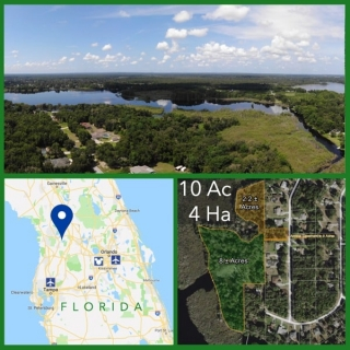 10 Acre Florida Lakefront Land For Sale