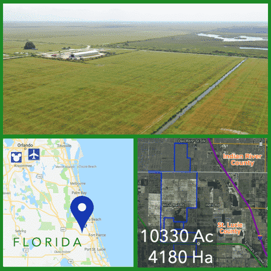 10000 Acres Florida Farmland For Sale