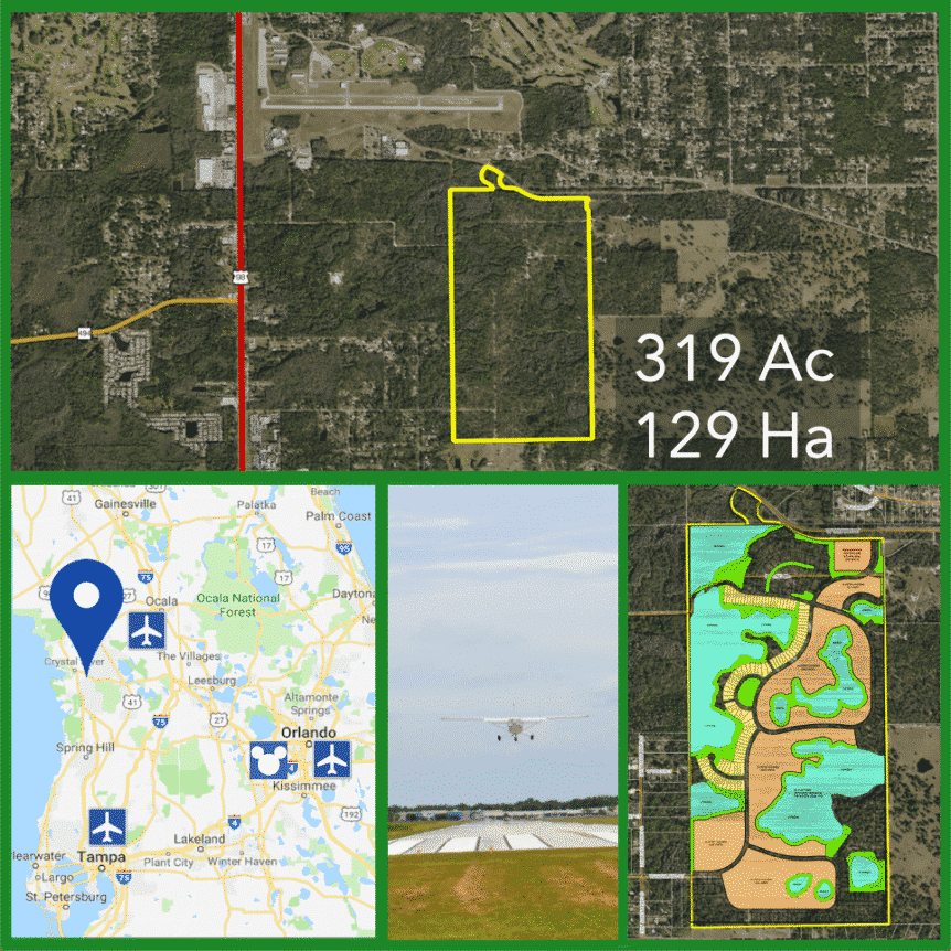 319 Acre Florida Residential Development Land For Sale